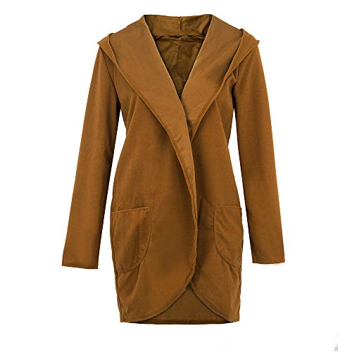 À Outwear Ouvert Longues Manches Hauts Kaki Décontracté Lenfesh Manteau Femmes Dames Capuche Cardigans Tops 7q6ItnAY