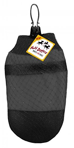 MUTTLUKS HOTT DOGGERS 4 ECONOMICAL DOG BOOTS ★ BLACK ★ LIGHT WEIGHT TRACTION ★ ALL SIZES (XS)