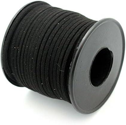 RUBY - Bobina Cordon de Antelina 3mm / 25Metros ENVIO DESDE ESPAÑA (Negro): Amazon.es: Hogar
