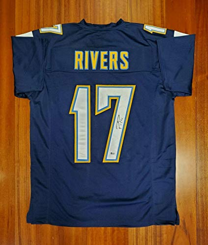 Autographed Philip Rivers Jersey - Phillip Beckett - Beckett Authentication - Autographed NFL ()