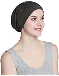 6017d221160 Cozy Satin Lined Slouchy Beanie Cap with Soft Elastic Band for Men   Women  · Alnorm