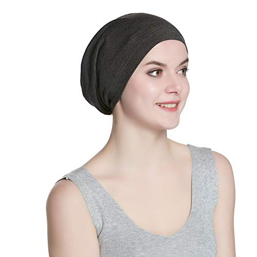 - Soft Stretchy Sleep Cap Unisex Skull Cap Chemo Hat for Cancer Patients