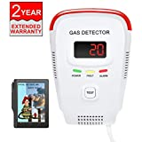 Natural Gas Detector/Propane/Methane,Leak Sensor Detector with Voice Warning and Digital Display