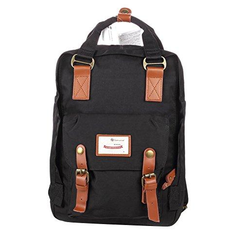 Himawari School Functional Travel Waterproof Backpack Bag for Men & Women | 14.9'x11.1'x5.9' | Holds 15-in Laptop (black)
