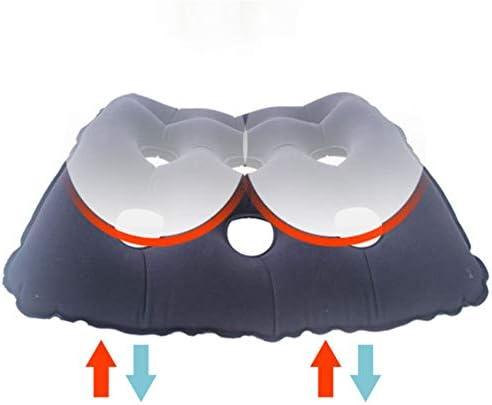 Masskko Aufblasbares Sitzkissen,Macht Medizinische Rad-Stuhl-Luftmatratze,Anti Bedsore verhindern Dekubitus-Schmerz mit Pumpe für längeres Sitzen
