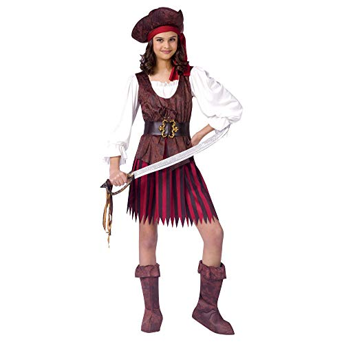 High Seas Buccaneer Pirate Costume Girl - Small 4-6]()