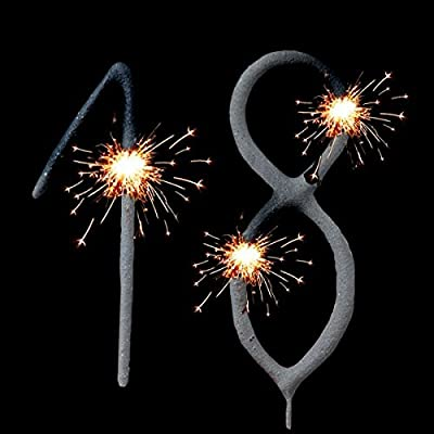 Birthday Sparklers Set Cake Decoration Back Double Tap To Zoom