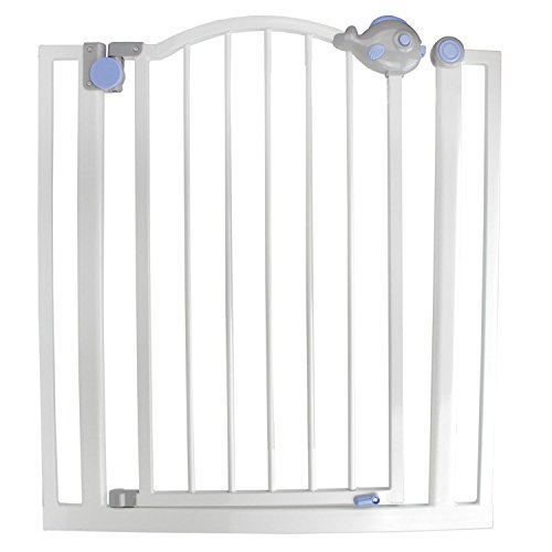 Speedy Pet Pop-O-Fish Gray, White and Blue Double Locking Safety Gate for Dogs and Children by Speedy Pet