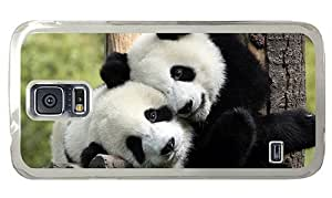 Hipster Samsung Galaxy S5 Case awesome Panda Hug PC Transparent for Samsung S5