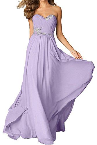 Brautmutterkleider Gruen Festlichkleider mit Abendkleider La Damen Lemon Flieder Chiffon Langes mia Braut Herzausschnitt rH8vx0Wz8