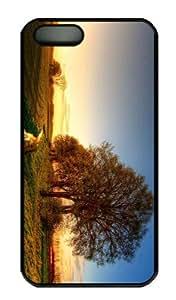 iPhone 5S Case - Customized Unique Design Nature Landscape 12 New Fashion PC Black Hard by icecream design