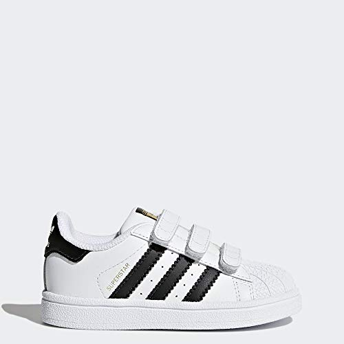 adidas Originals Infant Superstar Cloudfoam Sneaker, Core Black/White, 10K (Adidas Neo V Jog Infant & Toddler Sneaker)
