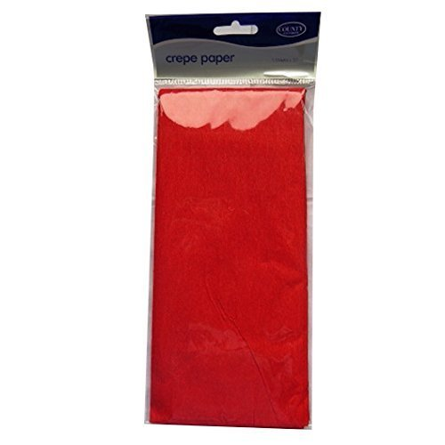 Crepe Paper - Red - 1.5M x 50cm - County by County
