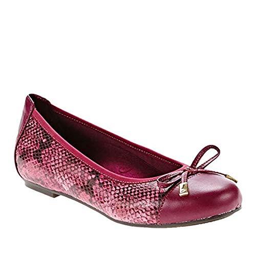 Vionic Women's Spark Minna Ballet Flat Raspberry Snake 5M