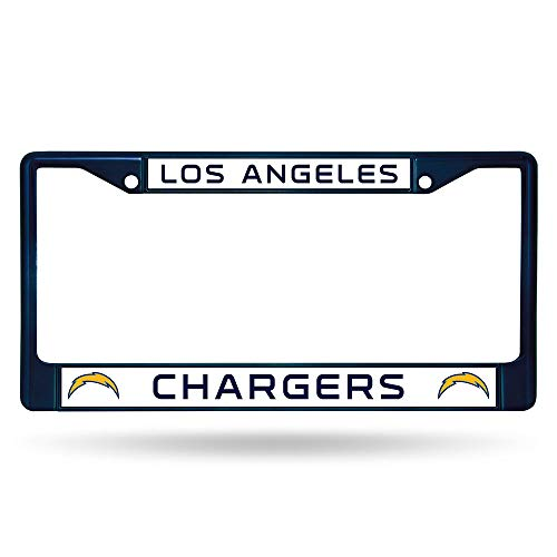 (Rico Industries NFL Los Angeles Chargers Team Colored Chrome License Plate Frame, Navy )
