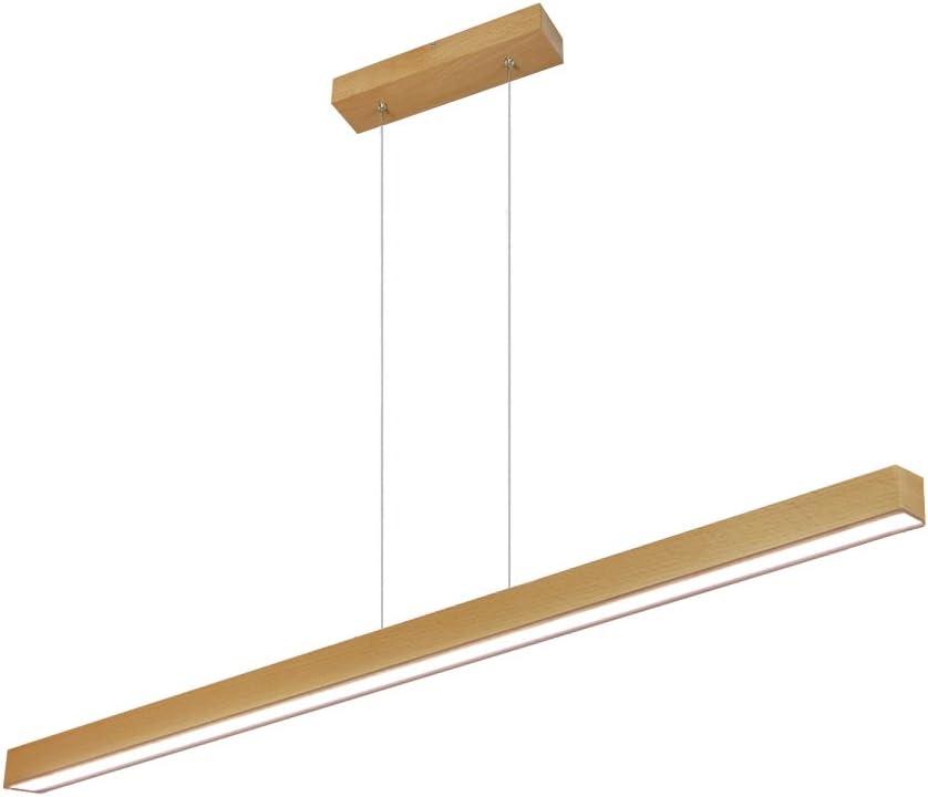 LED Hängeleuchte HausLeuchten LED120KB-3000K-BUCHE aus Holz 120cm 1998lm Esstischlampe Deckenlampe Deckenleuchte Pendelleuchte Esstisch Wohnzimmer Leuchte Lampe (BUCHE - Warmweißes Licht (3000 K)): Amazon.de: Beleuchtung - Hängeleuchte