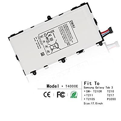 ZWXJ 4000mAh T4000E Replacement Battery for Samsung Galaxy Tab 3 7.0 SM- T210R T210 T211 T217 T4000E kids T2105 P3200 by Zwxj