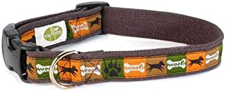 product image for Earthdog Decorative Adjustable Hemp Dog Collar Collection Sage Small Collar