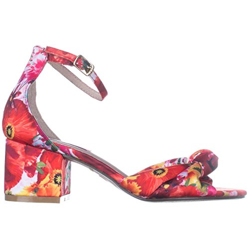 Betsey Johnson Womens Ivee Fabric Peep Toe Formal Ankle Strap Sandals Floral CufkJ52