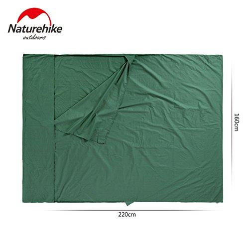 Naturehike Ultra-léger Sac de couchage double portable Doublure 100% coton NH15S012-J