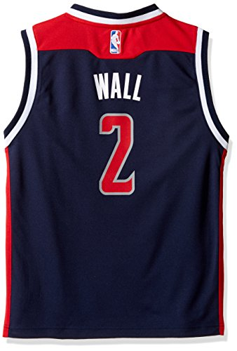 OuterStuff NBA Youth 8-20 Washington Wizards Wall Replica Alternate Jersey-Dark Navy-M(10-12)