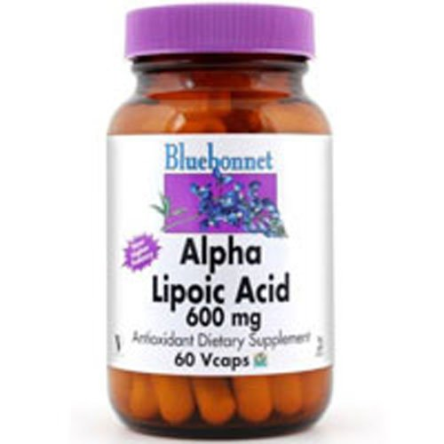 Bluebonnet Nutrition Alpha Lipoic Acid 600 Mg, 60VC 600 Mg(Pack of 2)