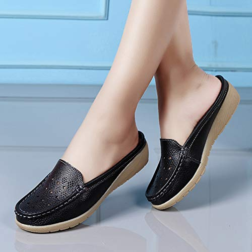 En Femme Plein Soft Maize Noir Demi Fond Les Chaussures Air Dans Du Casual Alikeey coins Slipper Bateau 5EqwAH5