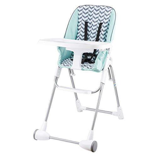 Evenflo Symmetry Flat Fold High Chair, Spearmint Spree