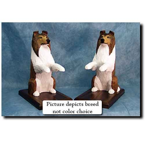 Michael Park Collie Bookends Rough Blue Merle