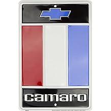 HangTime Camaro emblem 8 X 12 embossed aluminum sign