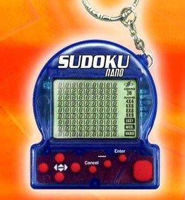 Sudoku NANO Portable Mini Puzzle Game w/ Keychain Sorted Color