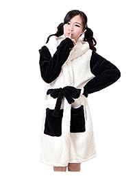 XMiniLife Lovely Warm Hoodie Bath Robe,Panda