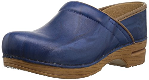 Dansko Women's Professional Clog, Blue Scrunch, 38 M EU (7.5-8 US)