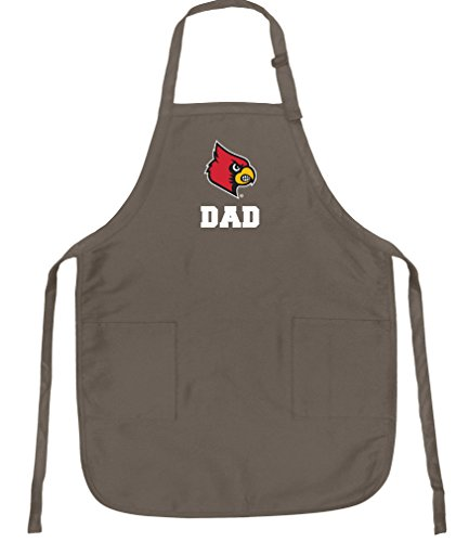 (Broad Bay University of Louisville Dad Apron Best Louisville Cardinals Father Logo Gift for Man Him)