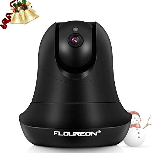 Dome Ip Cam (FLOUREON Wireless IP Camera PTZ 1080P ONVIF Home Surveillance Security Indoor Camera 5X Zoom Two Way Audio Baby Monitor Support Night Vision/Motion Detection(Black))