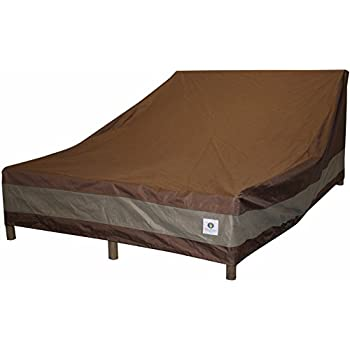 Duck Covers Ultimate Double Patio Chaise Lounge Cover, 82 Inch