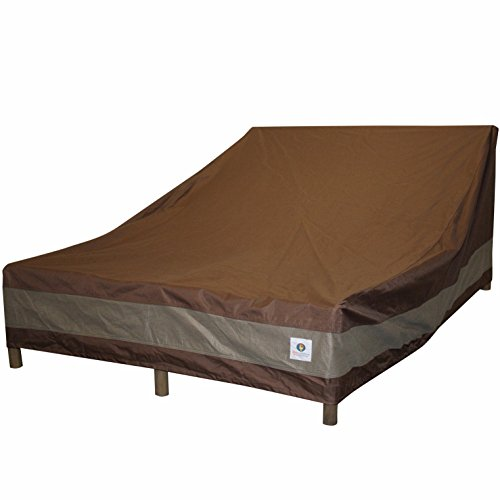 Duck Covers Ultimate Double Patio Chaise Lounge Cover, 82-Inch (Outdoor Furniture Chaise Double)
