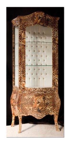 Casa Padrino Barock Vitrine Leopard - Möbel Leo Optik