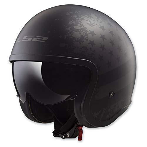 LS2 Helmets Motorcycle & Powersports Helmet's Spitfire (Black Flag, X-Small)