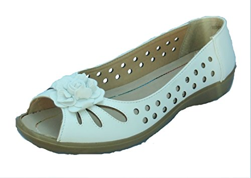 Annabelle Womens Monique Leather Lined Summer Peep Toe Shoes BgKPNJnBc