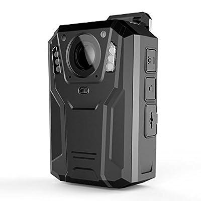 C-CARAVAN DMT6S Ambarella A7, 32G Body Mount Personal Camera Security 1080P Ir Night Light Wearable Video & Audio Recorder Black Color