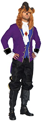 UHC Men's Disney Beast Outfit Fairytale Theme Party Halloween Costume, XL (46-48) (Disney Villain Costume)