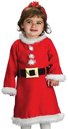 Rubie's Baby Girl's Santa Girl, Red/White, Toddler (Santa Claus Costumes For Sale)