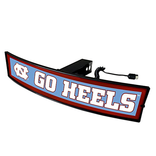 Fanmats NCAA North Carolina Tar Heels 20069 Light Up Hitch Cover, One Size, Team Colors by Fanmats