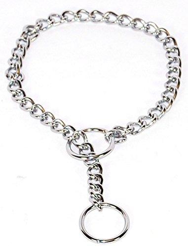 Fine Choke Chain - Hamilton Fine Choke Chain Dog Collar, 18-Inch