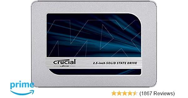 Amazon com: Crucial MX500 500GB 3D NAND SATA 2 5 Inch
