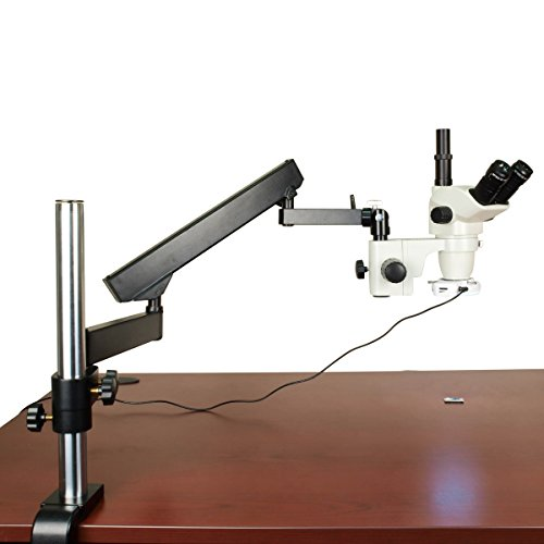 OMAX-67X-45X-Zoom-Simul-focal-Articulating-Arm-Trinocular-Stereo-Microscope-with-Vertical-Post-and-64-LED-Ring-Light