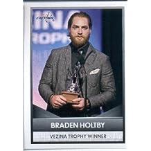 2016-17 Panini NHL #4 Vezina Trophy Winner ~ Braden Holtby 2015-16 NHL Awards Hockey Sticker