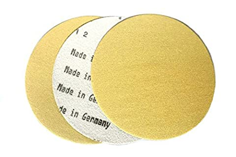 5 Inch X No Hole Gold Hook and Loop Grip Sanding Discs (50 Pack, 60 Grit) - Grit Grip Disc
