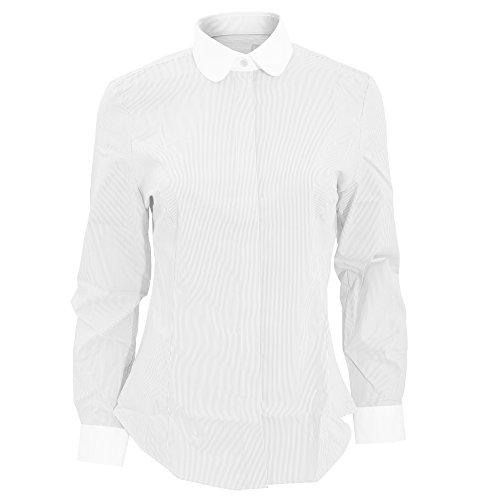 Brook Taverner - Camisa de manga larga entallada modelo Franca para mujer Azul cielo